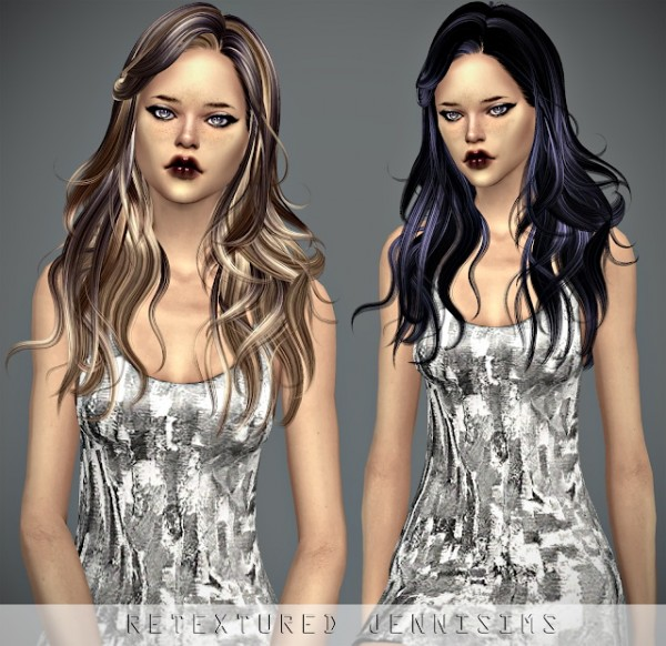 Jenni Sims: Newsea`s Cameron Hair retextured for Sims 4