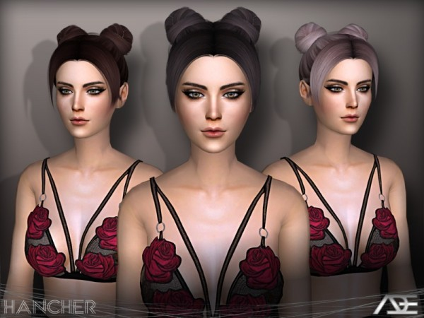 The Sims Resource: Hancher hair by Ade Darma for Sims 4