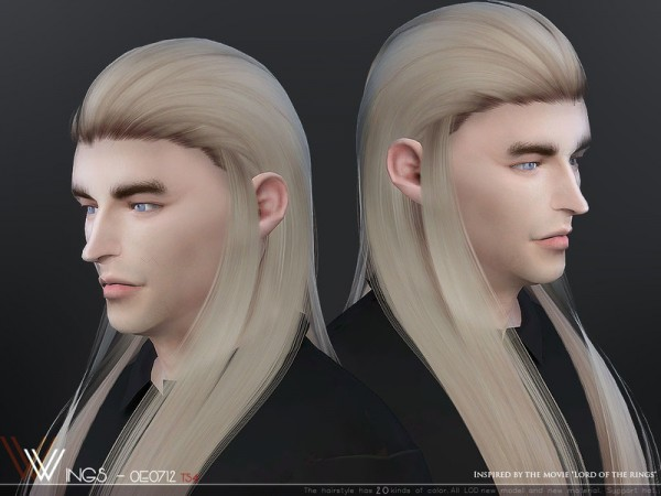 The Sims Resource: WINGS OE0712 hair for Sims 4