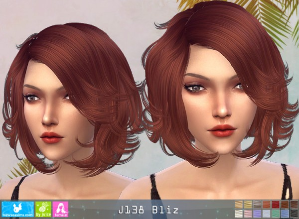 NewSea: J138 Bliz hair for Sims 4