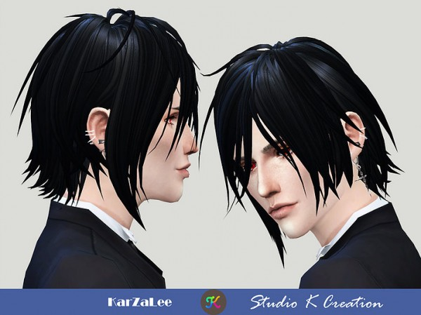 Studio K Creation: Animate hair 97 Sebastian for Sims 4