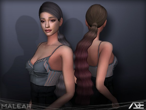 The Sims Resource: Maleah hair by Ade Darma for Sims 4