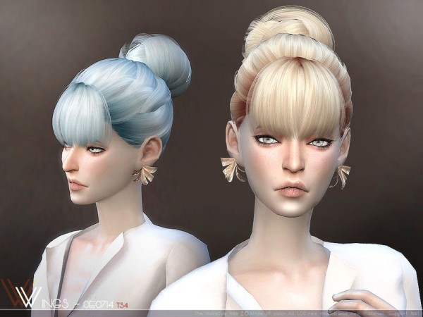 The Sims Resource: WINGS OE0714 hair for Sims 4