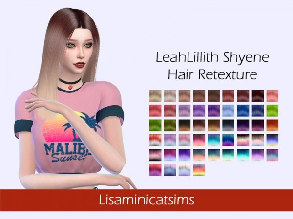 The Sims Resource: LeahLillith`s Shyene hair retextured by Lisaminicatsims for Sims 4
