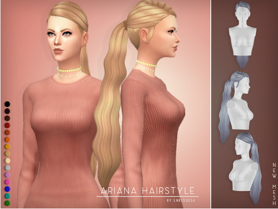 Enrique: Ariana Hair for Sims 4