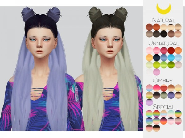 The Sims Resource: LeahLillith`s Little Piece hair retextured by kalewa a for Sims 4