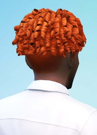 Birksches sims blog: Tight Curls shaved hair for Sims 4