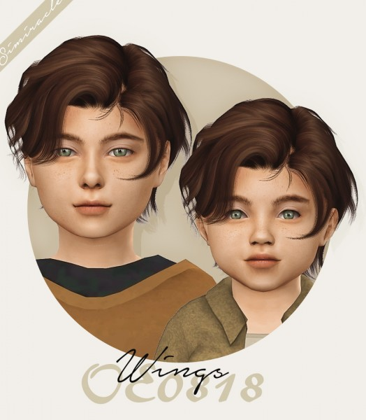 Simiracle: Wings OE0818 hair retextured for Sims 4