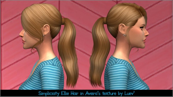 Mertiuza: Simpliciaty`s Ellie hair retextured for Sims 4