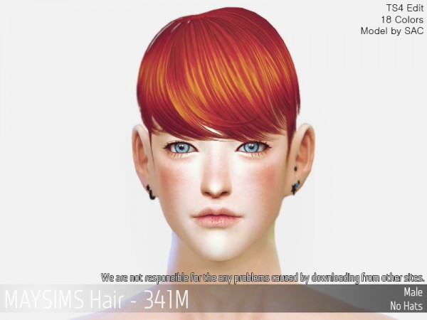 MAY Sims: MAY341M hair retextured for Sims 4