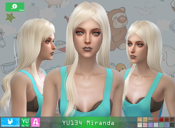 NewSea: YU134 Miranda hair for Sims 4