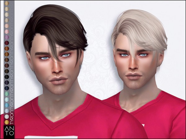 The Sims Resource: Tyron hair by Ato for Sims 4