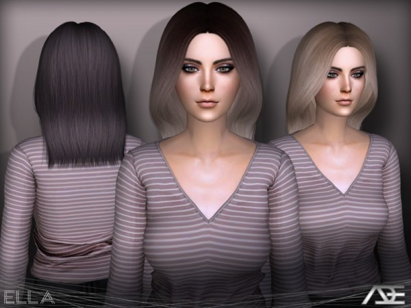 The Sims Resource: Ella hair by Ade Darma for Sims 4