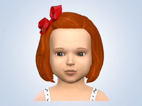 The Sims Resource: Red Hair and Ribbons for Sims 4