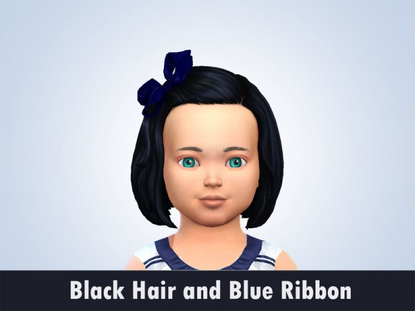 The Sims Resource: Black Hair recolred by kitty.e for Sims 4