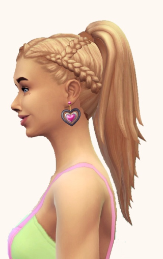 Birksches sims blog: Front Braids and Ponytail hair retextured for Sims 4
