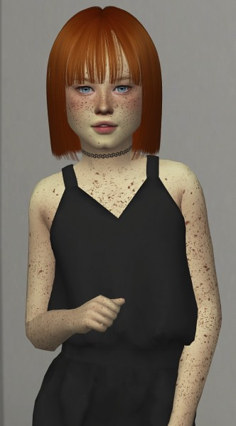 Coupure Electrique: LeahLillith`s Cassie Hair retextured  kids and toddlers version for Sims 4