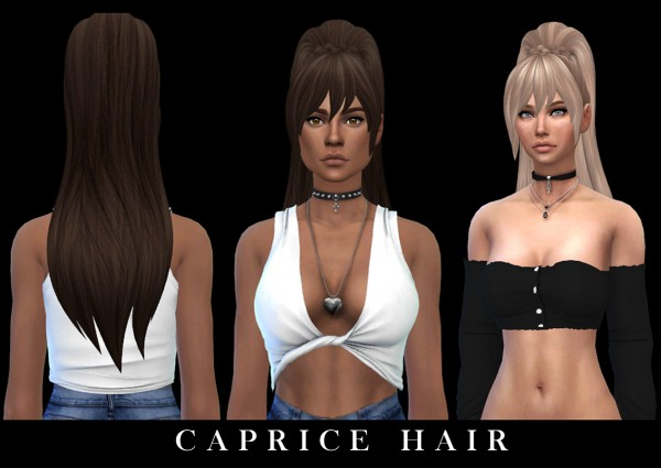 Leo 4 Sims: Caprice hair recolor 2 for Sims 4