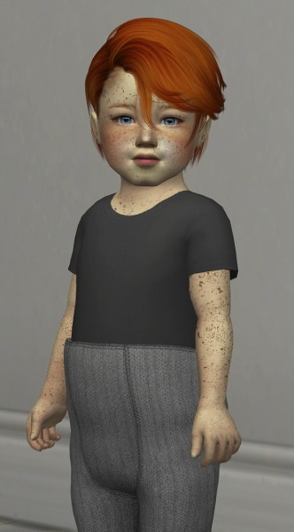 Coupure Electrique: Kids and toddlers male hairs retextured for Sims 4