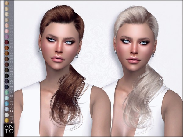 The Sims Resource: Chloe hair by Anto for Sims 4