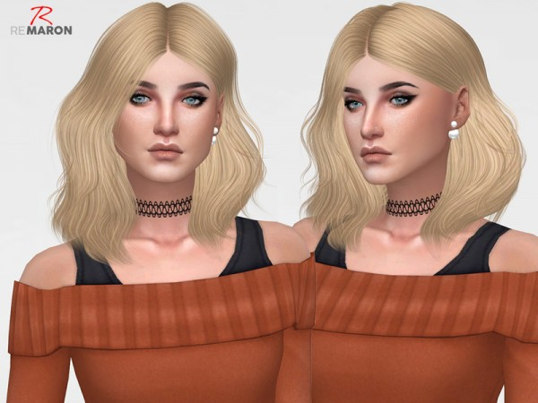 The Sims Resource: Naira Hair Retextured by remaron for Sims 4