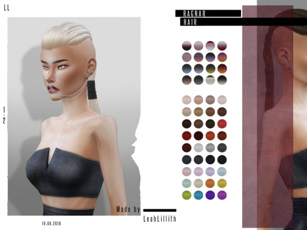 The Sims Resource: Ragnar Hair by LeahLillith for Sims 4