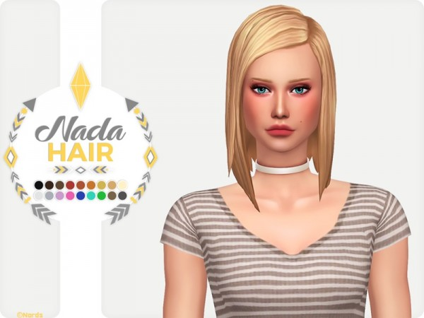 The Sims Resource: Nada Hair by Nords for Sims 4