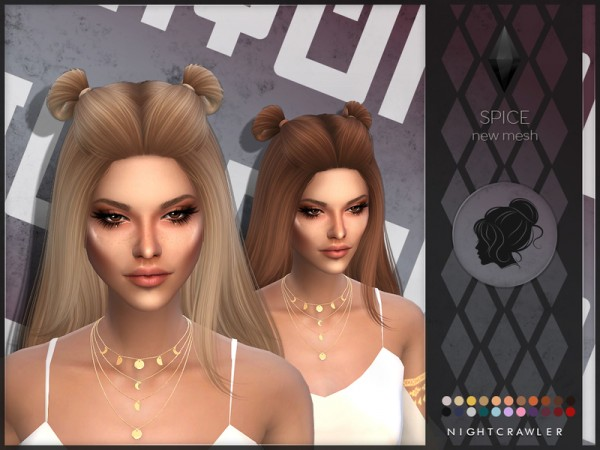 The Sims Resource: Spice hair by Nightcrawler Sims for Sims 4