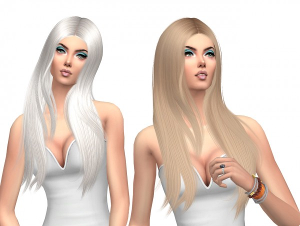 Sims Fun Stuff: Wings 1015 hair retextured for Sims 4