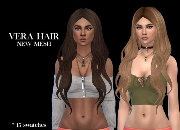 Leo 4 Sims: Vera hair 2 recolored for Sims 4