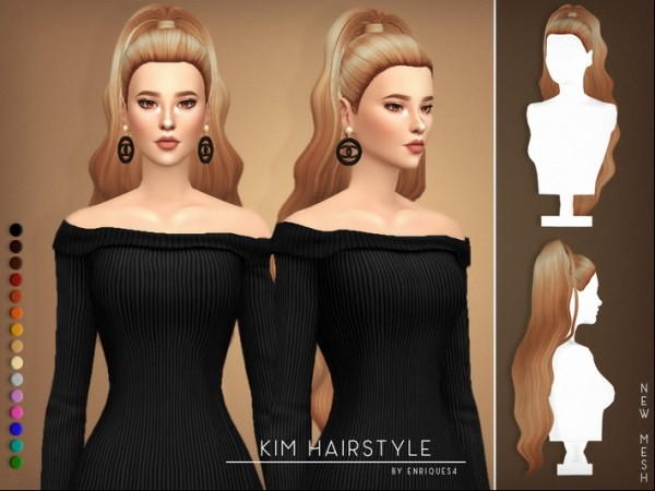 Enrique: Kim hair for Sims 4