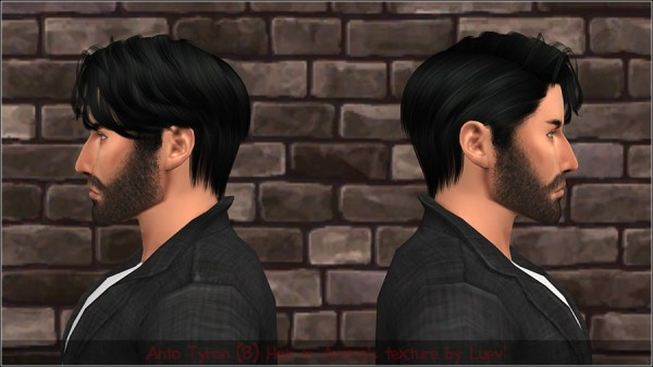 Mertiuza: Anto`s Tyron hair retextured for Sims 4