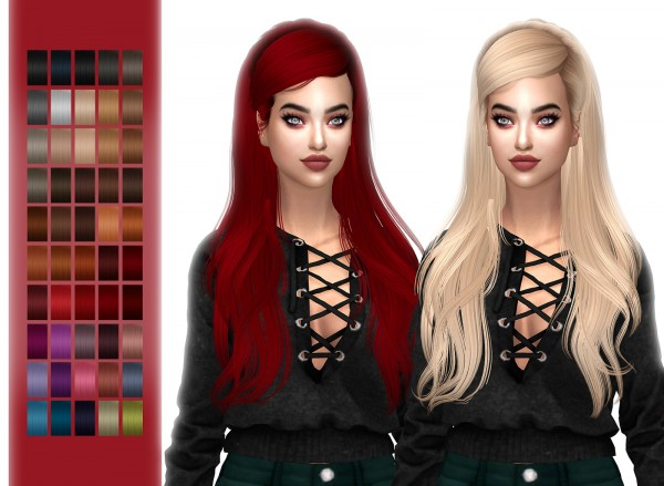 Frost Sims 4: Newsea`s Monochrome hair retextured for Sims 4