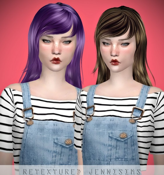 Jenni Sims: Newsea`s Simple Lilac Fog Hair retextured for Sims 4