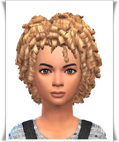 Birksches sims blog: Just Kid Curls hair for Sims 4