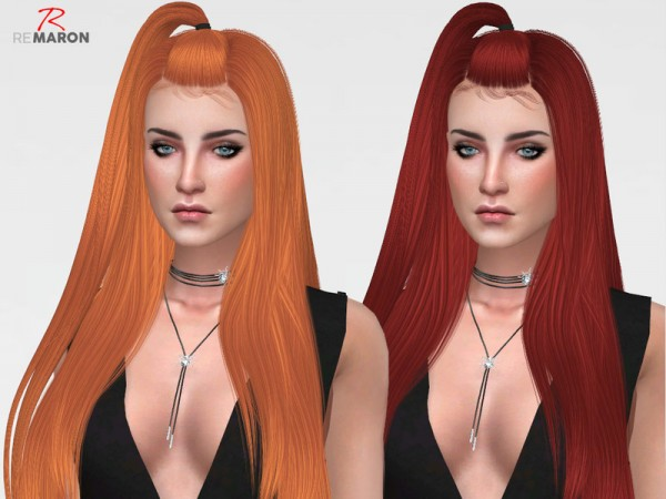 The Sims Resource: LeahLillith`s Radiant hair retextured by remaron for Sims 4
