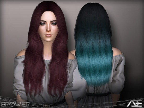 The Sims Resource: Brower hair by Ade Darma for Sims 4