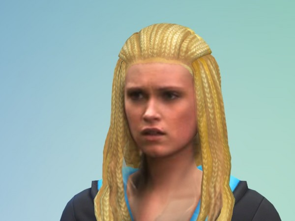 The Sims Resource: Clarke Griffins Hair retextured by AlaniaSh for Sims 4