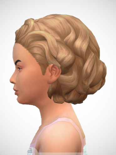 Birksches sims blog: Shield's Mid Curls for Sims 4