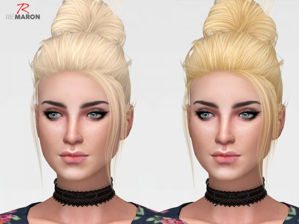 The Sims Resource: LeahLillith`s Clique hair retextured by remaron for Sims 4