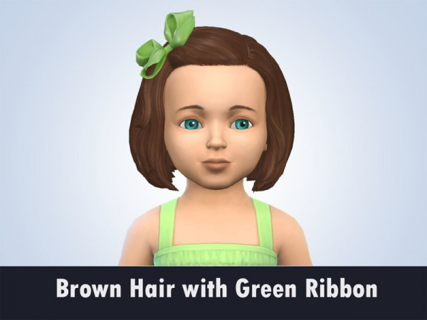 The Sims Resource: Brown Hair recolored by kitty.e for Sims 4