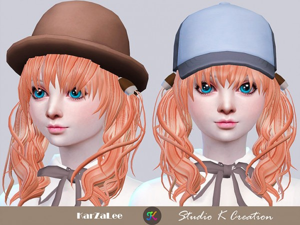 Studio K Creation: Maiko hair 76 for Sims 4