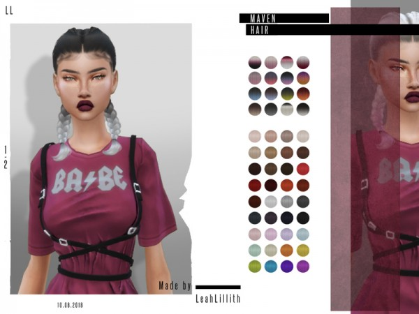 The Sims Resource: Maven Hair by Leah Lillith for Sims 4