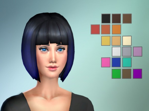 The Sims Resource: Default Ombres hair recolored by turner.levi for Sims 4
