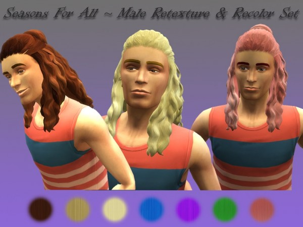 The Sims Resource: Seasons For All hair retextured by LadyLorelai for Sims 4