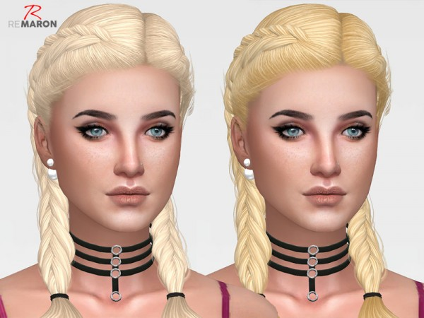 The Sims Resource: Simpliciaty`s Alessia hair retextured by remaron for Sims 4