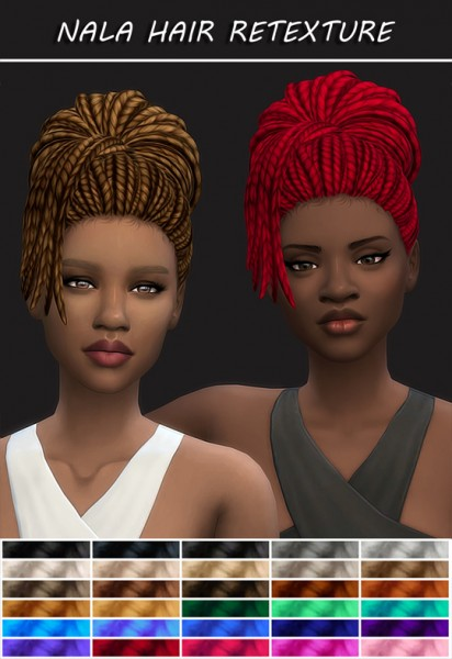 Simsworkshop: Nala Hair Braids Retexture by maimouth for Sims 4