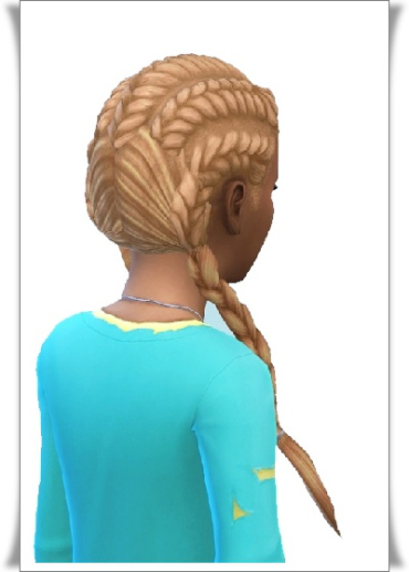 Birksches sims blog: Pull Back Braids Long Pigs hair for Sims 4