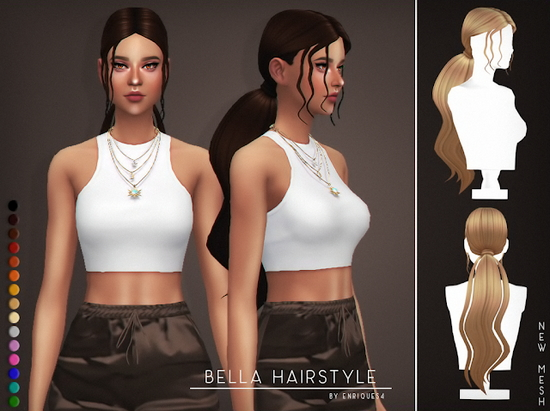 Enrique: Bella Hair for Sims 4