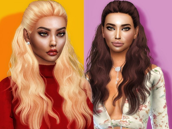 The Sims Resource: Hannah hair retextured by Sharareh for Sims 4